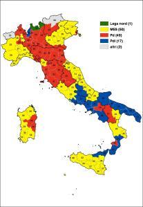 Mappa Province Elezioni Camera 2013